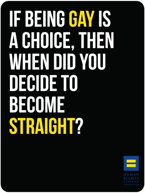 If Being Gay Is A Choice...